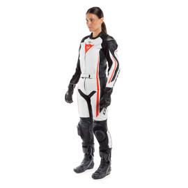 ASSEN 2 PCS LADY SUIT WHITE/BLACK/FLUO-RED- Zweiteiler