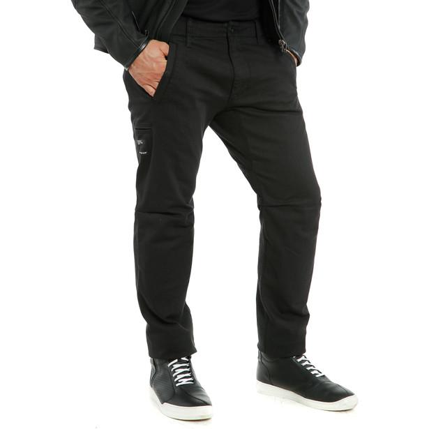 CHINOS TEX PANTS BLACK- Pantaloni