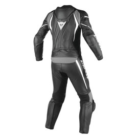 LAGUNA SECA D1 2PCS PERF SUIT BLACK/BLACK/ANTHRACITE- Leather Suits