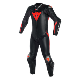 Mugello R D-air® BLACK/BLACK/FLUO-RED- Tute in pelle