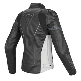 RACING D1 PELLE LADY BLACK/WHITE/ANTHRACITE- Jackets