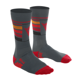 HG HALLERBOS SOCKS DARK-GRAY/RED- undefined