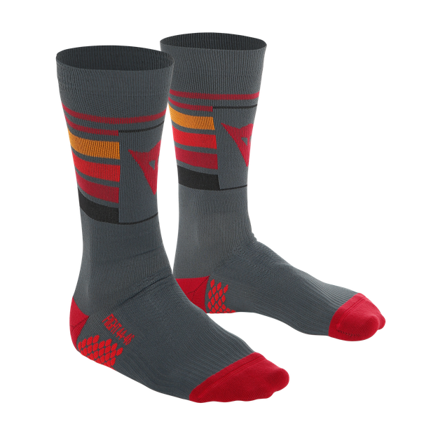 HG HALLERBOS SOCKS DARK-GRAY/RED- Bike fur ihn