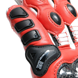 DRUID 3 GLOVES BLACK/WHITE/LAVA-RED- Cuir