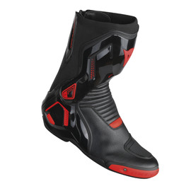 COURSE D1 OUT AIR BOOTS BLACK/RED-FLUO- Leder