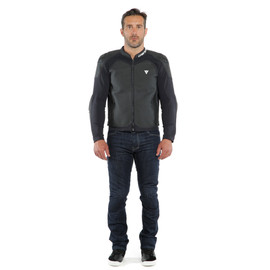 INTREPIDA PERF. LEATHER JACKET BLACK-MATT/BLACK-MATT/BLACK-MATT- Leather
