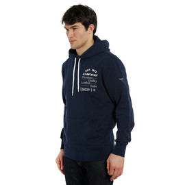 PADDOCK HOODIE BLACK-IRIS/WHITE- Casual Wear