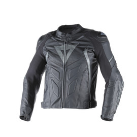 AVRO D1 LEATHER JACKET BLACK/BLACK/ANTHRACITE