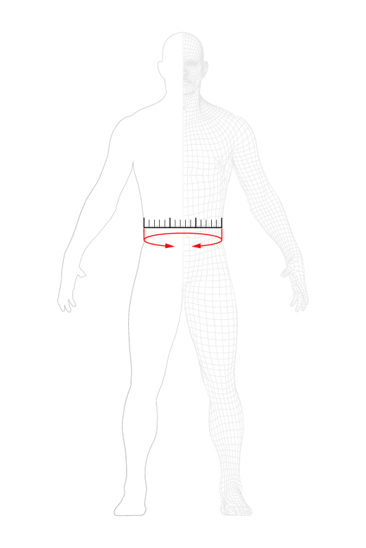 how to measure: waist
