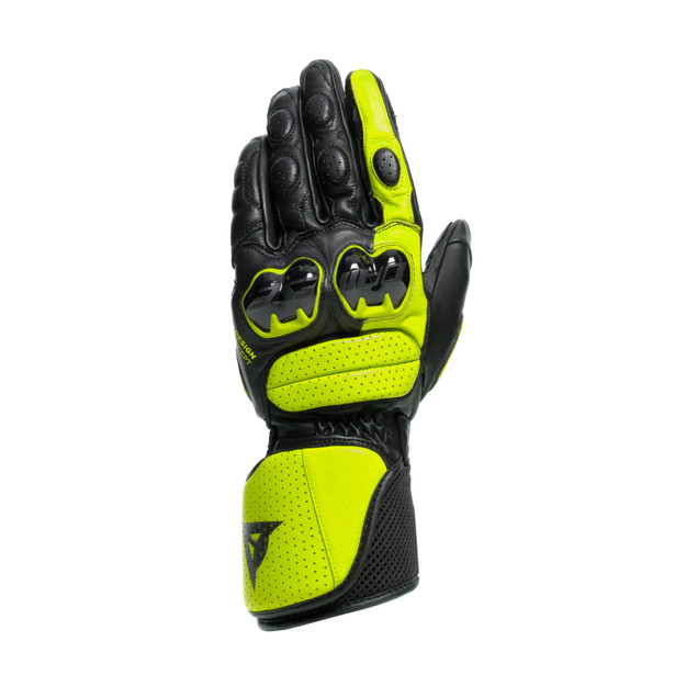 IMPETO GLOVES BLACK/FLUO-YELLOW- Leder