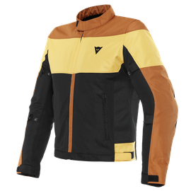 ELETTRICA AIR TEX JACKET BLACK/LEATHER-BROWN/MINERAL-YELLOW