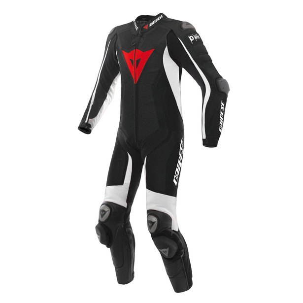 Misano D-air® Perforated suit BLACK/BLACK/WHITE- Moto