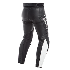 ASSEN PERF. LEATHER PANTS BLACK/WHITE- Leather
