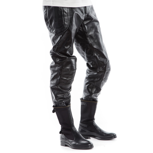 PIEGA72 LEATHER PANTS - Pants