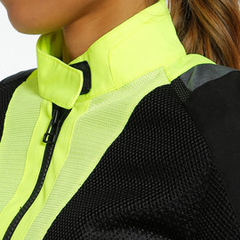 AIR TOURER LADY TEX JACKET FLUO-YELLOW/EBONY/BLACK- Tissus