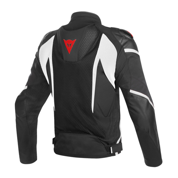 SUPER RIDER D-DRY JACKET BLACK/WHITE/RED- Waterproof