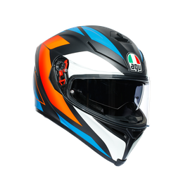 K5 S MULTI ECE DOT - CORE MATT BLACK/BLUE/ORANGE