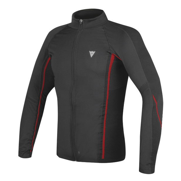 D-CORE NO WIND THERMO TEE LS  BLACK/RED- Maglie
