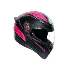 K1 MULTI ECE DOT - WARMUP BLACK/PINK - Full-face Sport