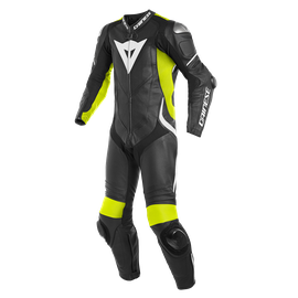 LAGUNA SECA 4 1PC PERF. LEATHER SUIT BLACK/FLUO-YELLOW/WHITE- Einteiler