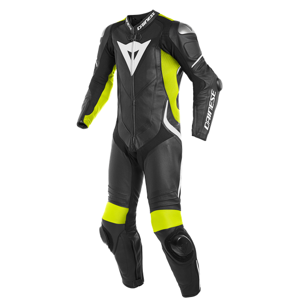 LAGUNA SECA 4 1PC PERF. LEATHER SUIT BLACK/FLUO-YELLOW/WHITE- Professionnelles