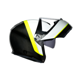 SPORTMODULAR MULTI ECE DOT - RAY CARBON/WHITE/YELLOW FLUO - Modular