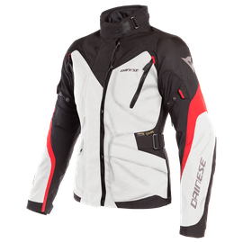 TEMPEST 2 D-DRY LADY JACKET LIGHT-GRAY/BLACK/TOUR-RED