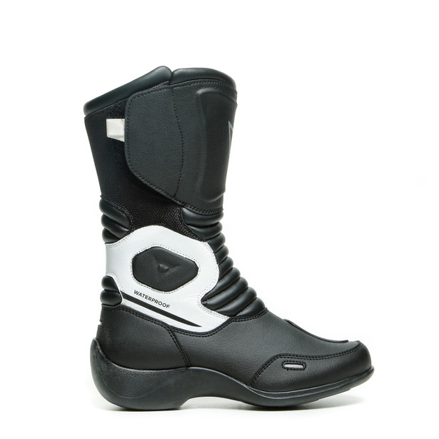 AURORA LADY D-WP BOOTS BLACK/WHITE- Motorbike for her
