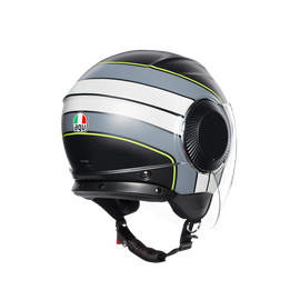 ORBYT E2205 MULTI - BRERA MATT BLACK/GREY/YELLOW FLUO - Open-face