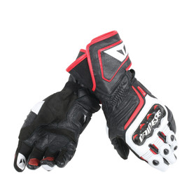 CARBON D1 LONG GLOVES BLACK/WHITE/LAVA-RED- Leder