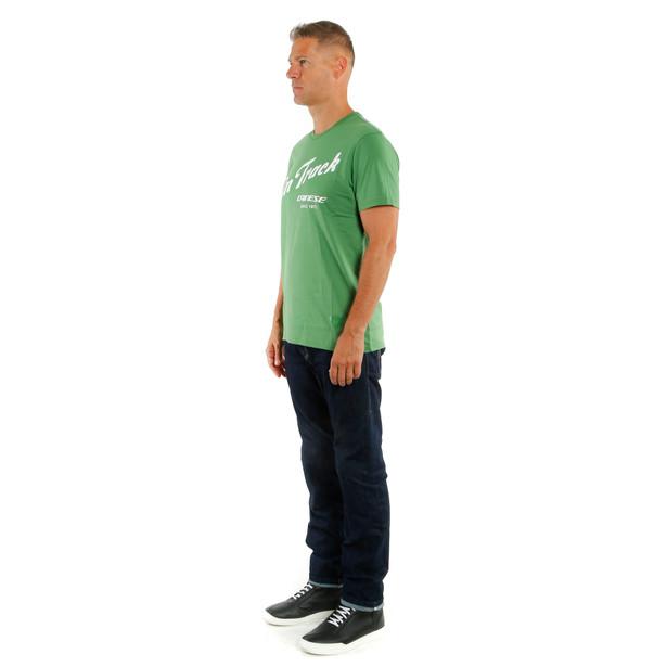 PADDOCK TRACK T-SHIRT GREEN/WHITE- Lifestyle