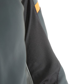 AGILE LEATHER JACKET BLACK-MATT/ORANGE/CHARCOAL-GRAY- Leder