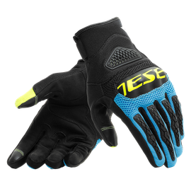 BORA GLOVES BLACK/FIRE-BLUE/FLUO-YELLOW- Textil