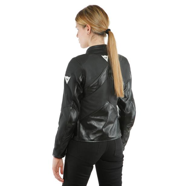 SANTA MONICA LADY LEATHER JACKET PERF. - undefined