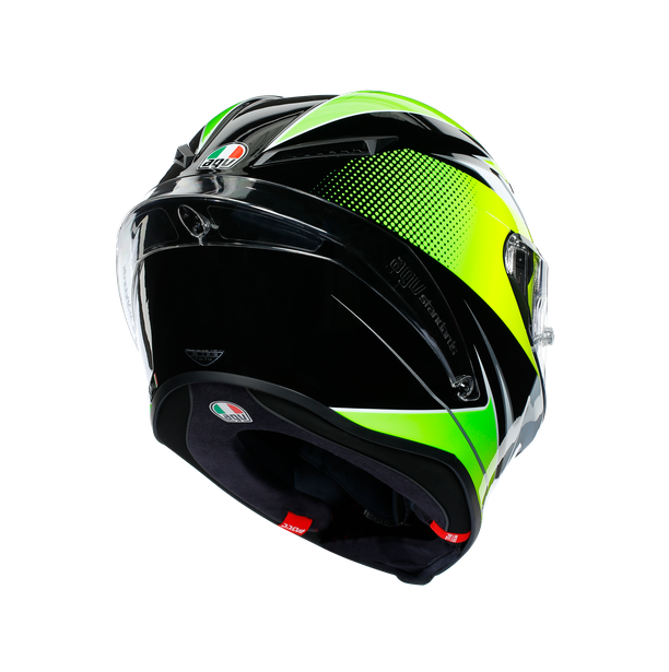 CORSA R E2205 MULTI - SUPERSPORT BLACK/WHITE/LIME - Full-face