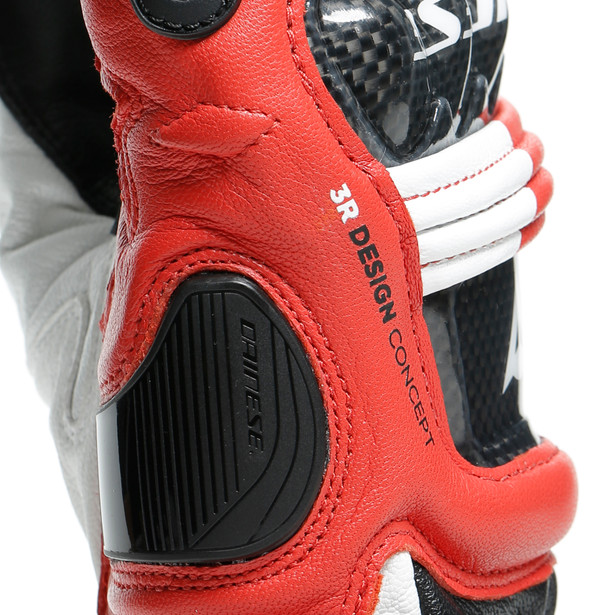 DRUID 3 GLOVES BLACK/WHITE/LAVA-RED- Leather