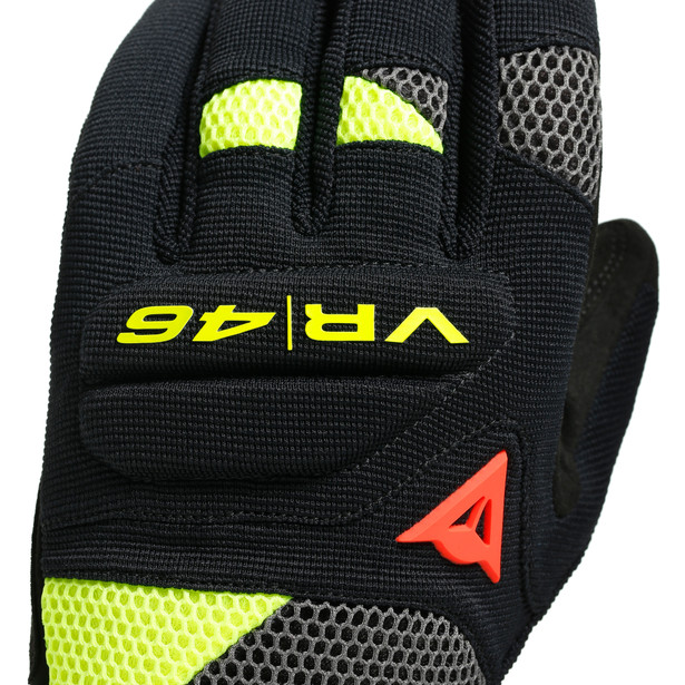 VR46 CURB SHORT GLOVES BLACK/ANTHRACITE/FLUO-YELLOW- VR46