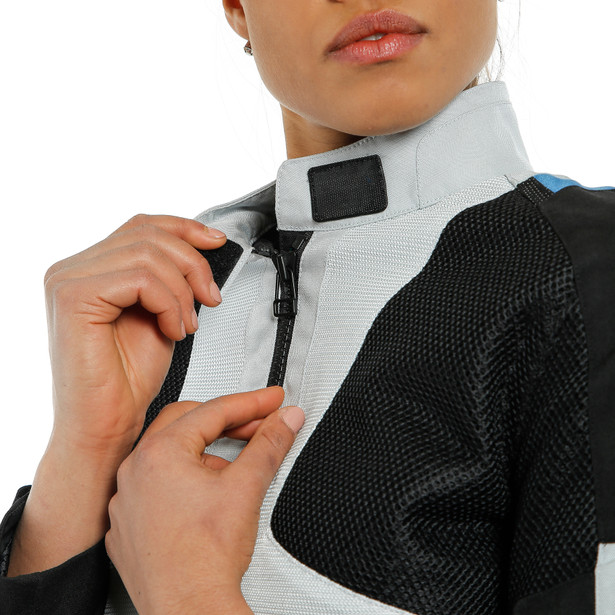 AIR TOURER LADY TEX JACKET GLACIER-GRAY/PERFORMANCE-BLUE/BLACK- Textil