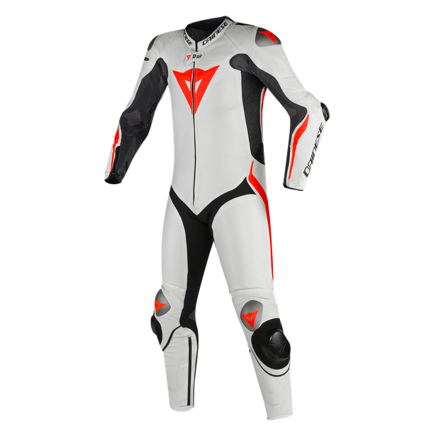 Mugello R D-air®  BLACK/WHITE/FLUO-RED- Lederkombi